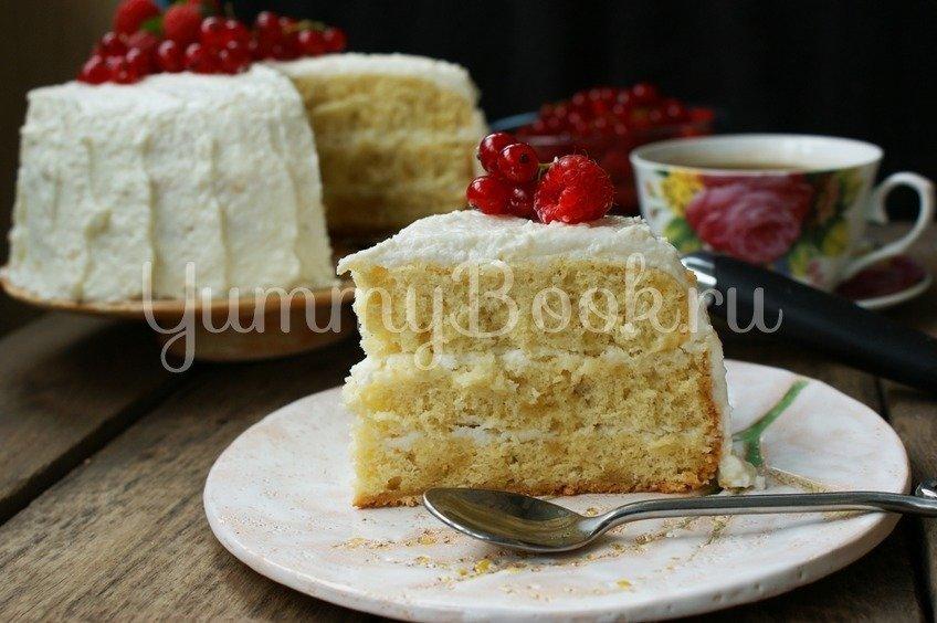 """Бисквитный торт """"Ягода"""" в мультиварке"""
