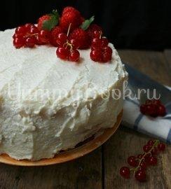 """Бисквитный торт """"Ягода"""" в мультиварке - шаг 9"""