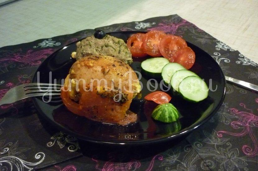 Картофель, запечённый с помидором, маслинами и сыром - шаг 22