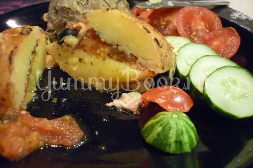 Картофель, запечённый с помидором, маслинами и сыром - шаг 24