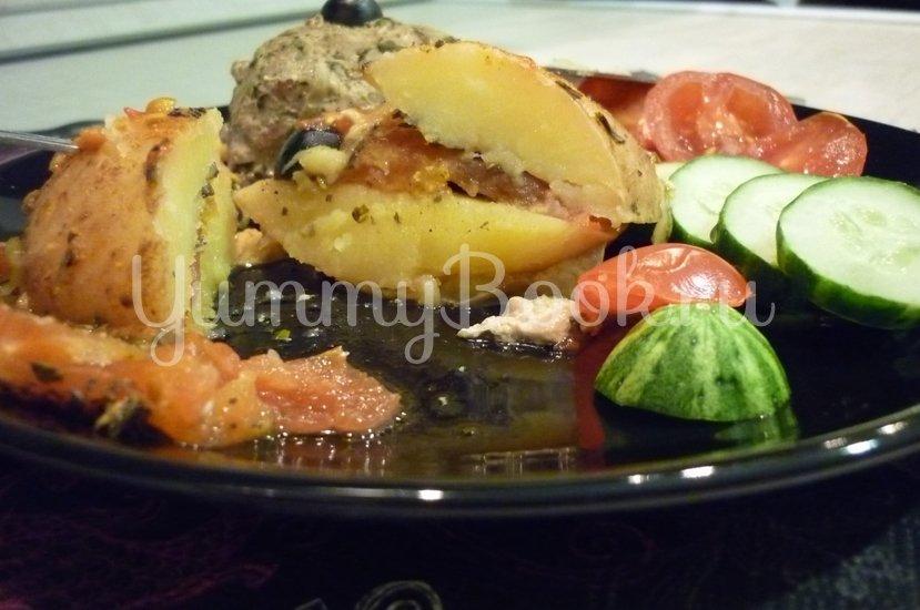 Картофель, запечённый с помидором, маслинами и сыром - шаг 23