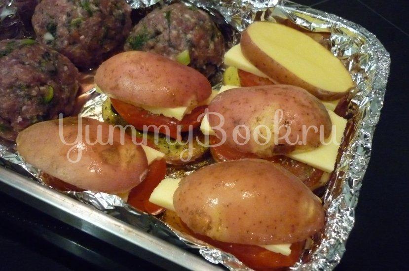 Картофель, запечённый с помидором, маслинами и сыром - шаг 14