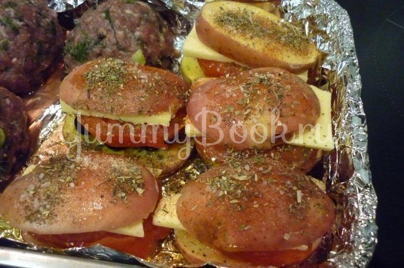 Картофель, запечённый с помидором, маслинами и сыром - шаг 15