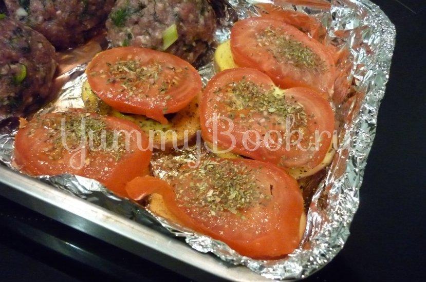 Картофель, запечённый с помидором, маслинами и сыром - шаг 11