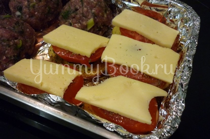 Картофель, запечённый с помидором, маслинами и сыром - шаг 13