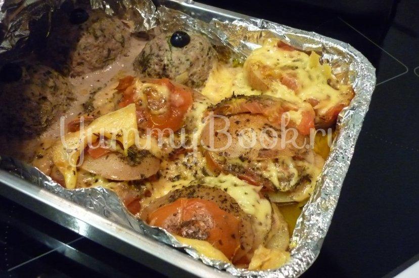 Картофель, запечённый с помидором, маслинами и сыром - шаг 20