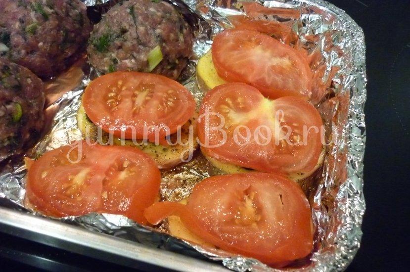 Картофель, запечённый с помидором, маслинами и сыром - шаг 10