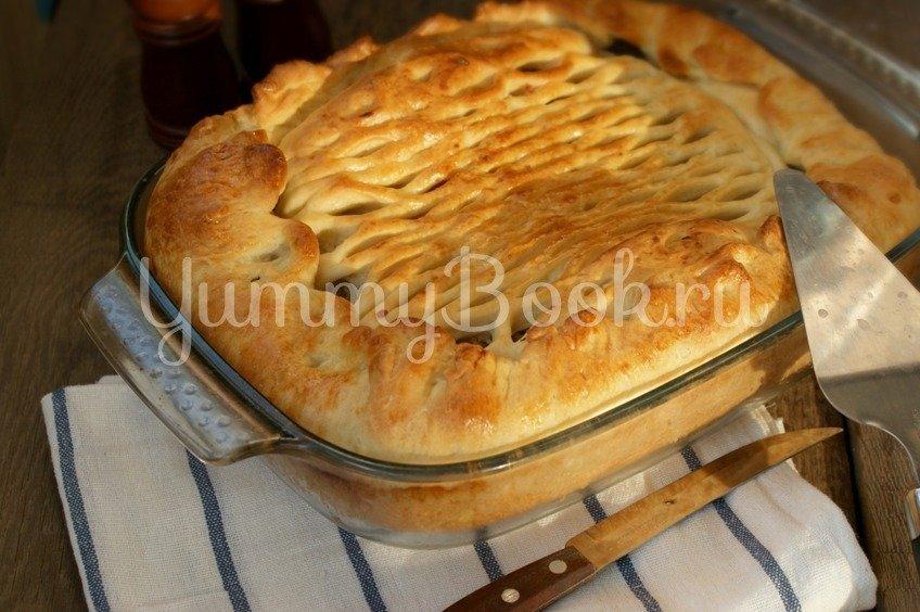 Дрожжевой пирог с картофелем и грибами