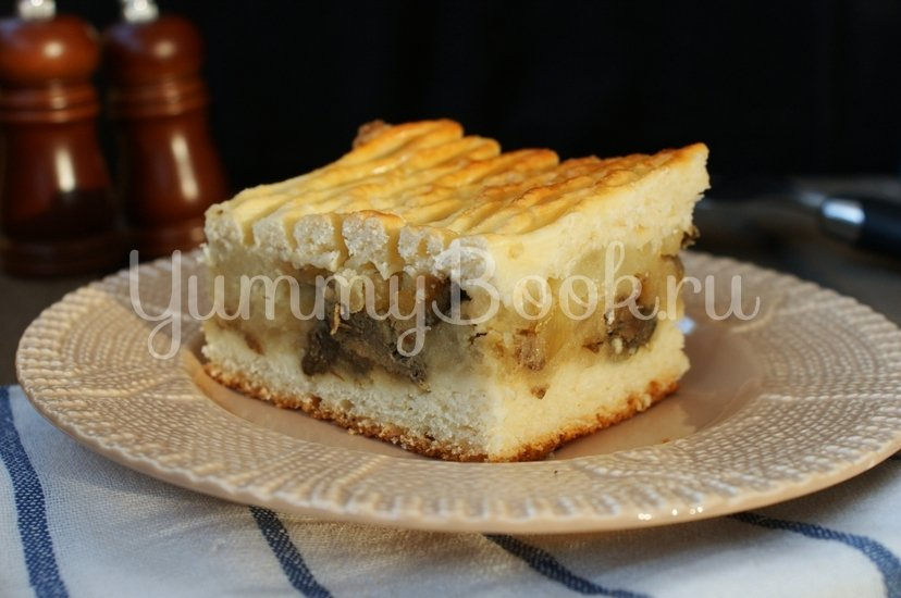 Дрожжевой пирог с картофелем и грибами - шаг 10