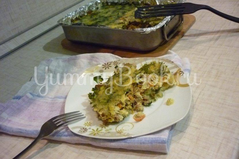 Запеканка из кабачков и фарша под сырно-яичной заливкой - шаг 32