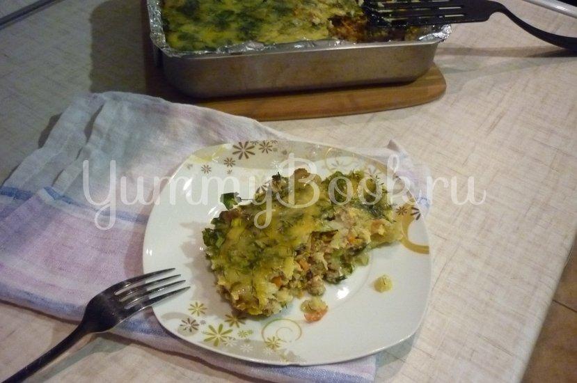 Запеканка из кабачков и фарша под сырно-яичной заливкой - шаг 31