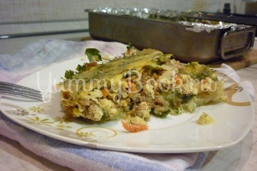 Запеканка из кабачков и фарша под сырно-яичной заливкой - шаг 33