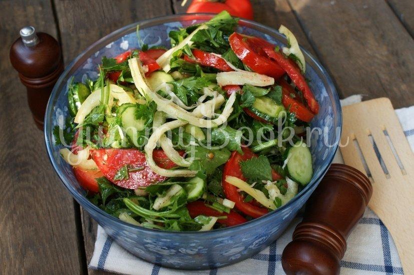 Салат овощной с сулугуни - шаг 7