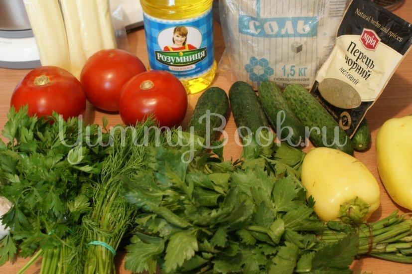 Салат овощной с сулугуни - шаг 1