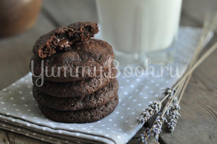Шоколадное печенье с шоколадной крошкой - шаг 9