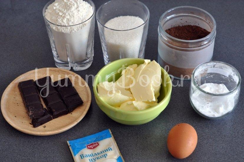 Шоколадное печенье с шоколадной крошкой - шаг 1