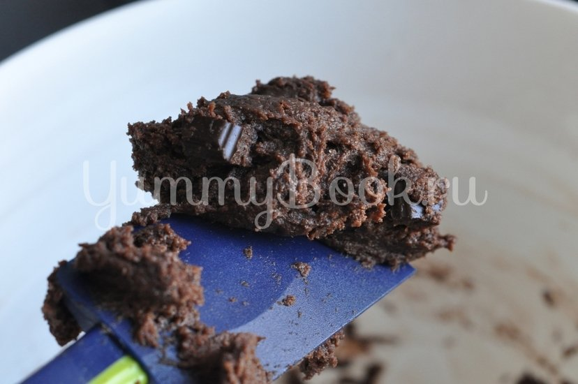 Шоколадное печенье с шоколадной крошкой - шаг 6