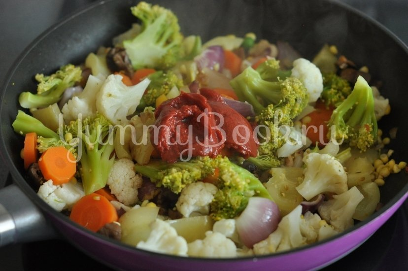 Овощи в кисло-сладком соусе - шаг 7