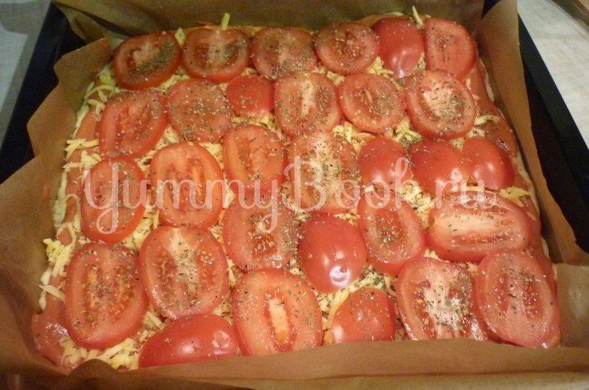 Домашняя пицца-пирог на пирожковом тесте - шаг 27