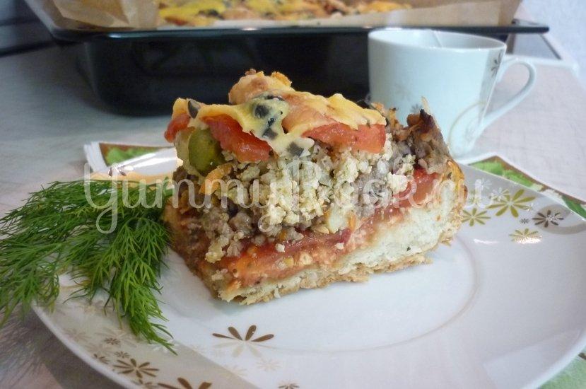 Домашняя пицца-пирог на пирожковом тесте - шаг 39