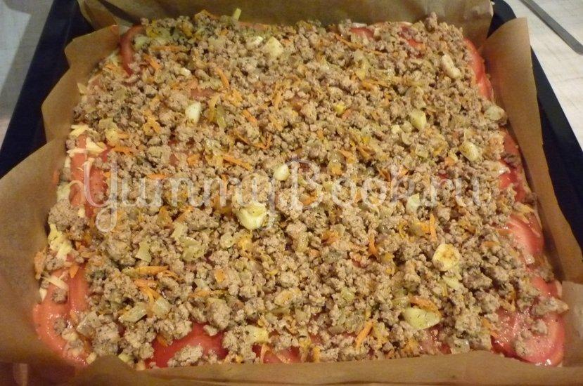 Домашняя пицца-пирог на пирожковом тесте - шаг 28