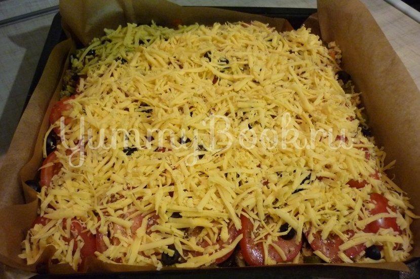 Домашняя пицца-пирог на пирожковом тесте - шаг 34