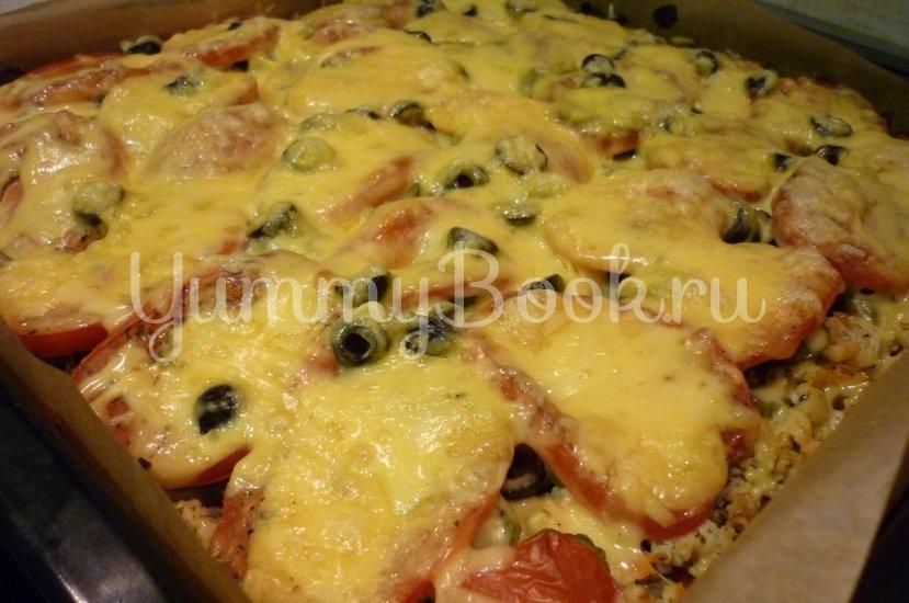 Домашняя пицца-пирог на пирожковом тесте - шаг 35