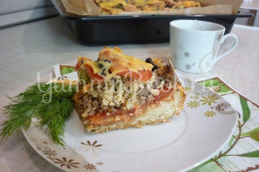 Домашняя пицца-пирог на пирожковом тесте - шаг 37