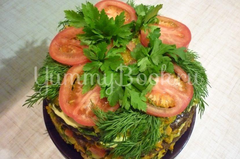 Печёночный торт с зеленью и помидорами - шаг 22