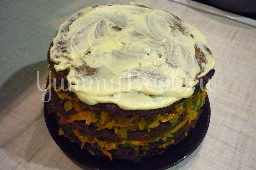 Печёночный торт с зеленью и помидорами - шаг 20