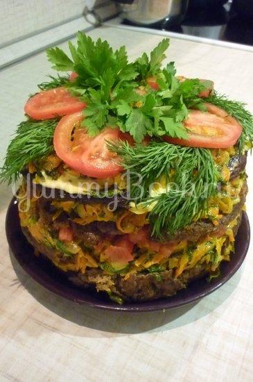 Печёночный торт с зеленью и помидорами - шаг 23