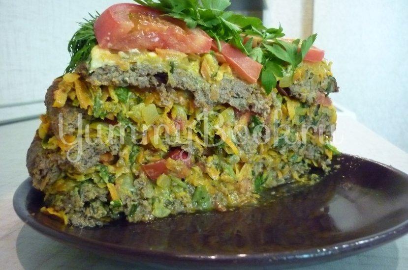 Печёночный торт с зеленью и помидорами - шаг 25