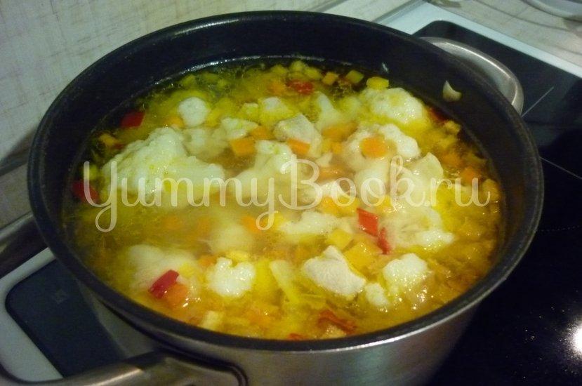 Лёгкий куриный суп с цветной капустой - шаг 21