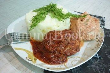 Куриные тефтели без риса с двумя соусами - шаг 12