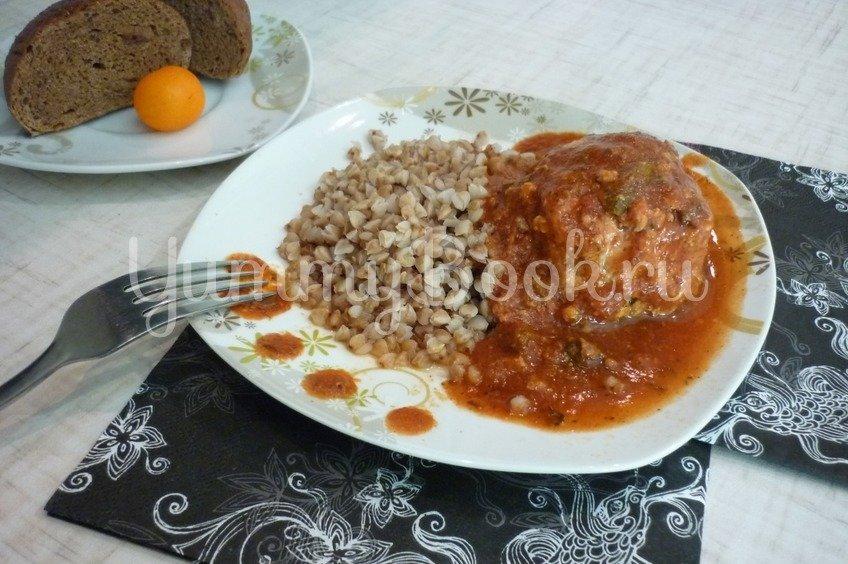 Чесночные тефтели с морковью в остром соусе
