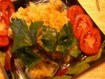 Зеленое рагу в сливочном соусе