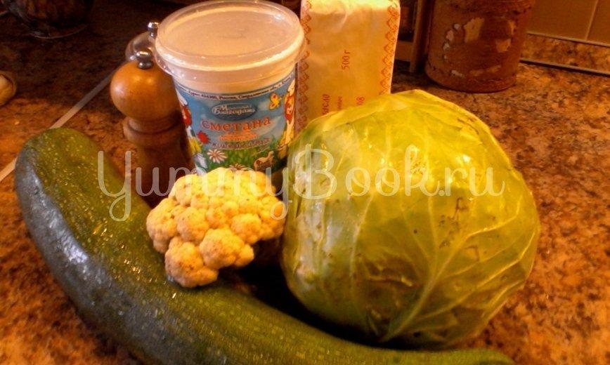 Зеленое рагу в сливочном соусе - шаг 1