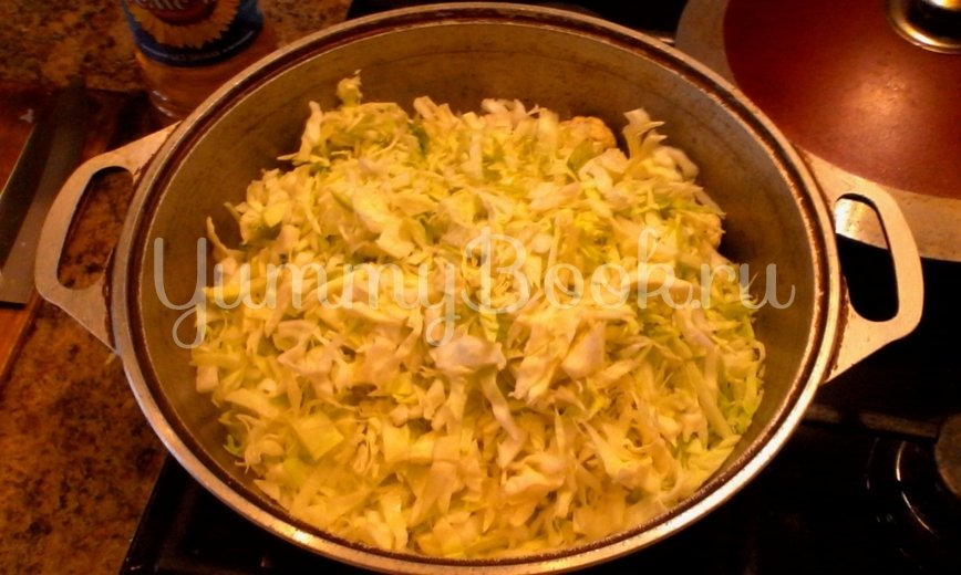 Зеленое рагу в сливочном соусе - шаг 2