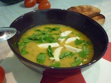 Кабачковый суп-пюре из запечённых овощей