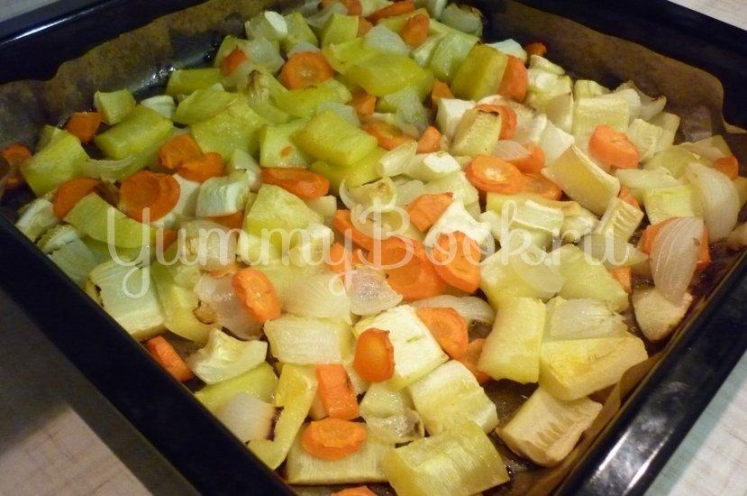 Кабачковый суп-пюре из запечённых овощей - шаг 13