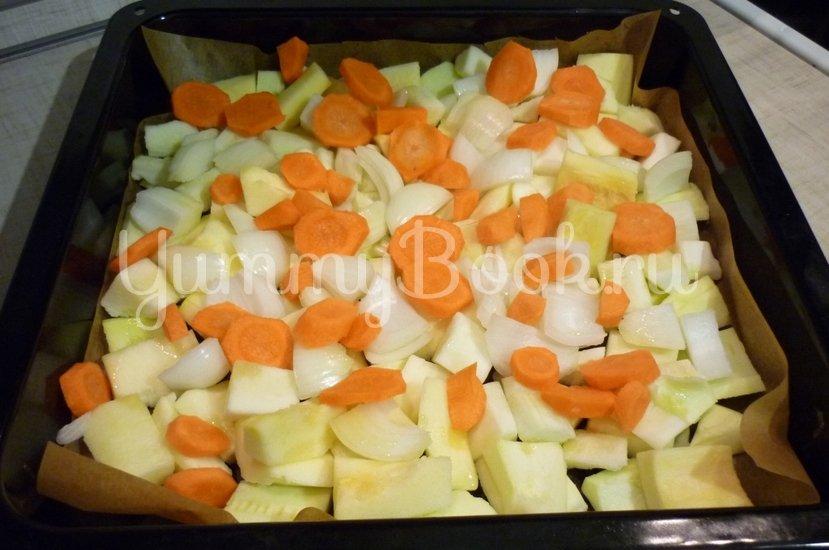 Кабачковый суп-пюре из запечённых овощей - шаг 8