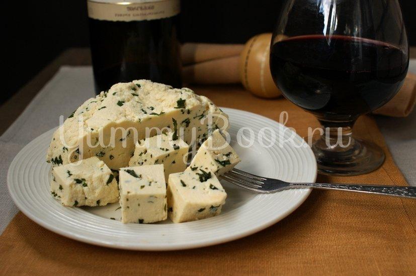 Домашний сыр с зеленью - шаг 9