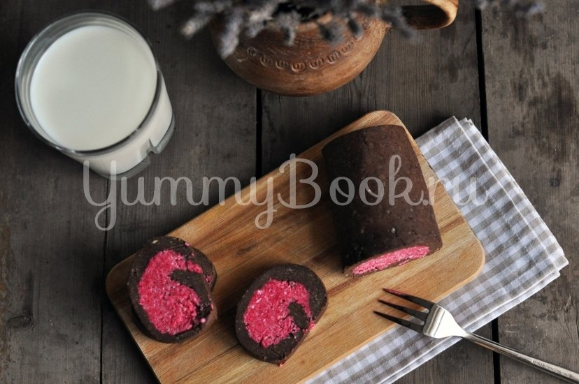 Шоколадно-кокосовый рулет без выпечки - шаг 11