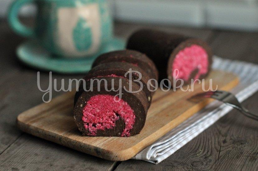 Шоколадно-кокосовый рулет без выпечки - шаг 10
