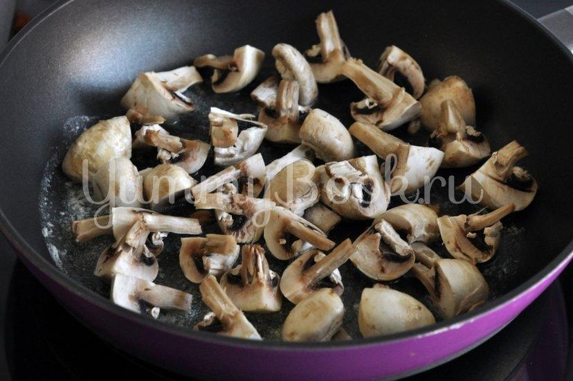 Спагетти с грибами и баклажанами под сливочным соусом - шаг 3