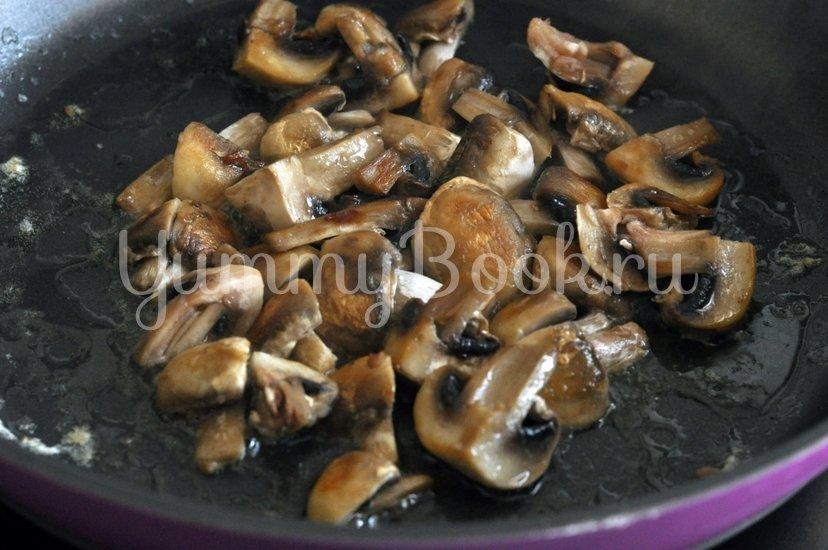 Спагетти с грибами и баклажанами под сливочным соусом - шаг 4