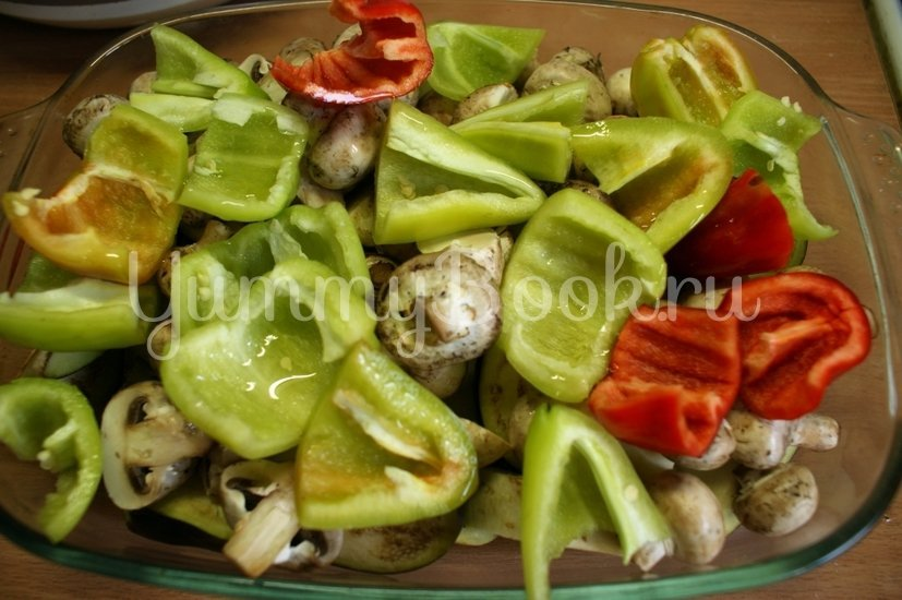 Печёные овощи с брынзой - шаг 3