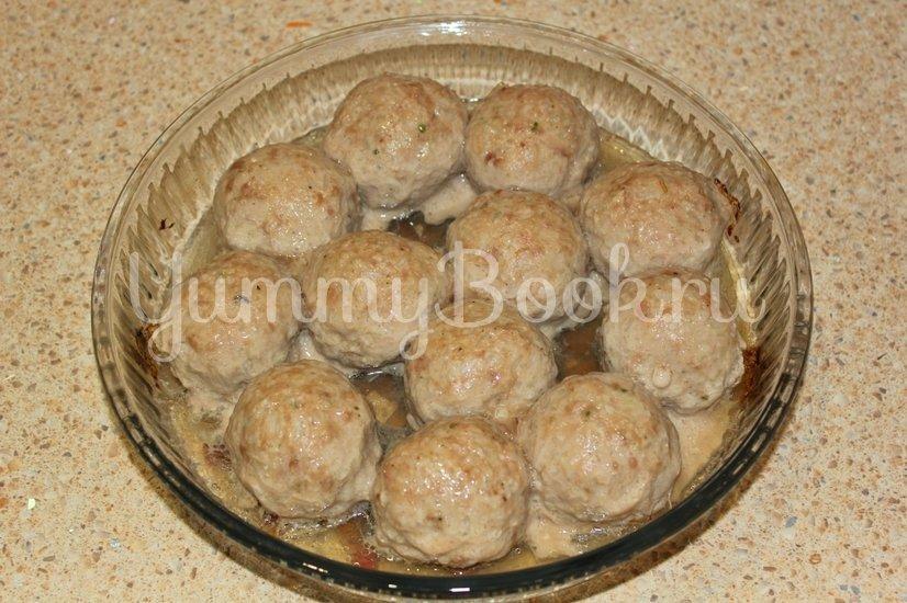 Тефтели из мяса индейки в сливочном соусе - шаг 10
