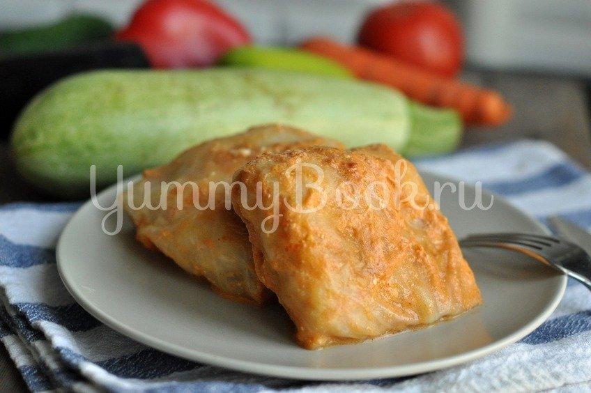 Голубцы под томатно-сливочным соусом