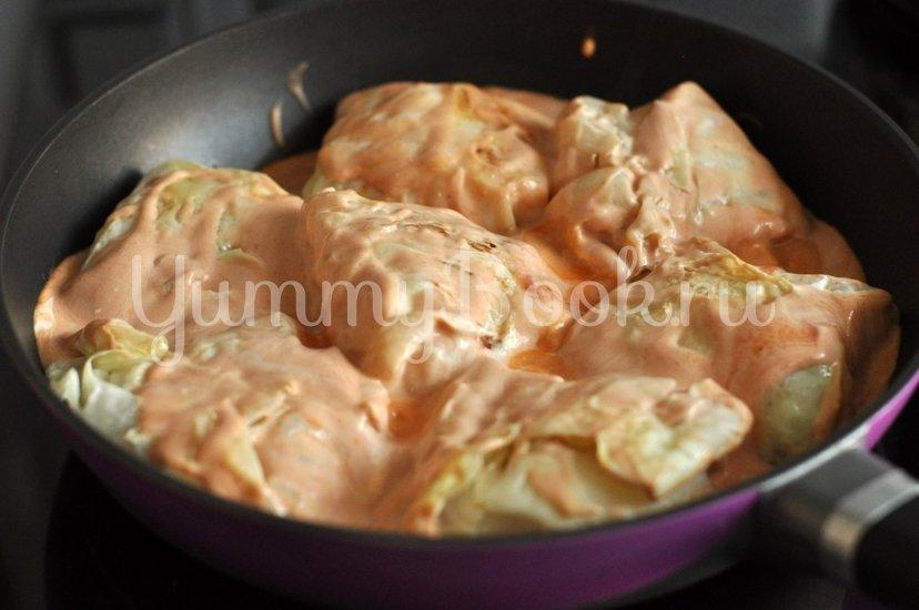 Голубцы под томатно-сливочным соусом - шаг 9
